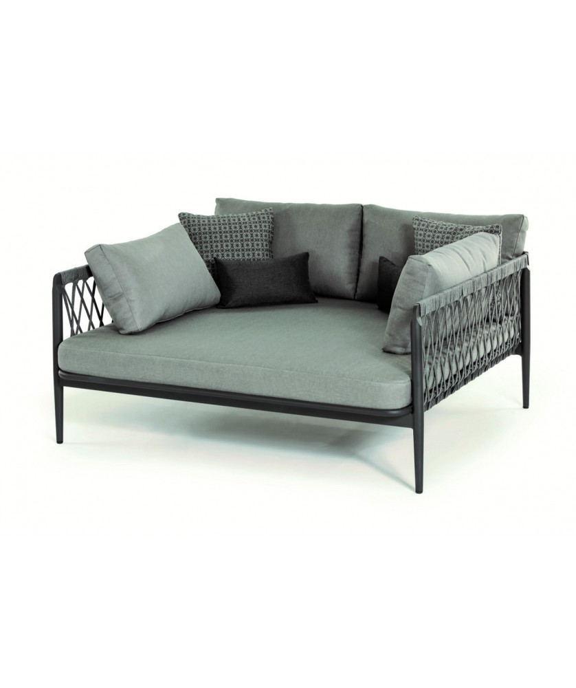 - Outdoor Doppelliege DAYBED MANILA, Outdoorgewebe & Kunststoffseil
