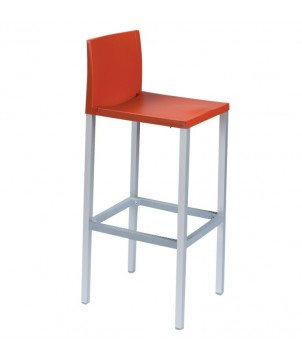 Moderner Outdoor Barhocker LIBERTY mit Lehne