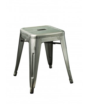 Industrial Design Hocker aus Metall