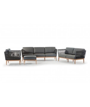Outdoor Lounge Set ANTIGUA, 4-teilig