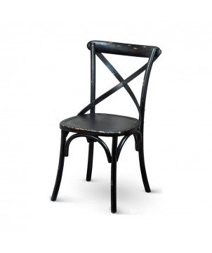 Stuhl CROSS OAK BLACK, Shabby Landhausstil