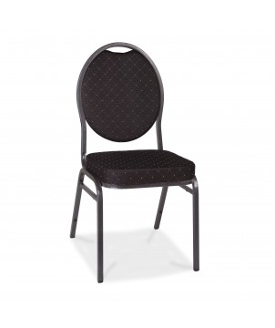 Bankettstuhl MX ECO KONF CHAIR BLACK, stapelbar, schwarz